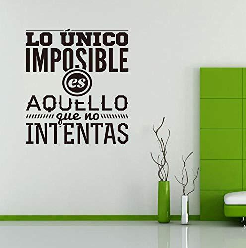 Muursticker huisdecoratie voor woonkamer muurstickers Vinyl Art muurstickers lijm Het enige wat onmogelijk is is