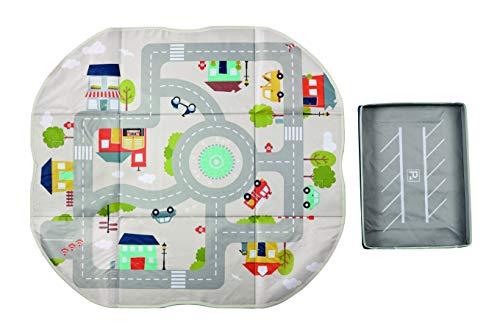 Achoka - Alfombra de Juegos 2 en 1, Plegable, diseño de Carretera, para bebés y niños, poliéster, 70 x 78 cm, Juegos de Viaje, Juegos lúdicos