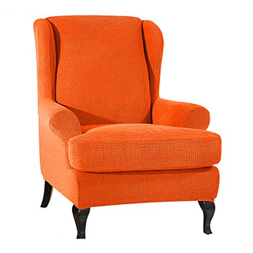 DQWGSS Wingback Armchair Chair Schonbezüge Spandex Jacquard Sofabezüge Stretch Wing Chair Schonbezug 2-teiliges Spandex-Material (Farbe: Farbe 10)