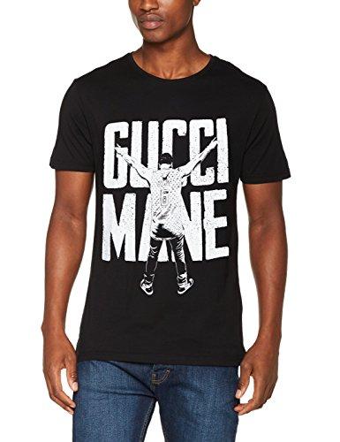 MERCHCODE Herren Gucci Mane Victory T-Shirt, Black, L