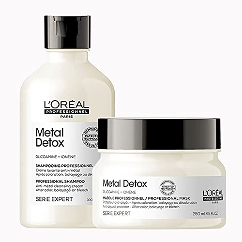 L'Oreal Professionnel Serie Expert DUO Metal Detox Shampoo 300ml and Mask...
