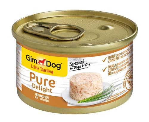 GimDog Pure Delight, pollo - Snack para perros rico en proteínas, con carne tierna en deliciosa gelatina - 18 latas (18 x 150 g) 🔥