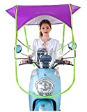RADHE Universal Bike and Scooter Umbrella Canopy ,Fold Away Sun Shade and Rain Coat Waterproof Motorcycle Scooter Moped Cover(Assorted Colour)