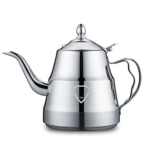 theepot, 304 roestvrij stalen ketel, 1.3L lange mond theepot, office thee tafel koken theepot en koffiemachine, Geschikt voor alle kachels, gas kachels