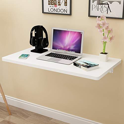 RXBFD Mesa Plegable de Pared Mesa de Hoja abatible montada en la Pared, Escritorio Flotante para computadora portátil, Mesa Colgante para Ahorrar Espacio para Estudio, Dormitorio