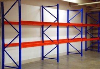 Palettenregal, Schwerlastregal 8,5 m breit/3 m hoch/1,1m tief mit 2 Ebenen, TÜV geprüft