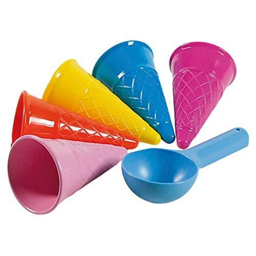 TOYANDONA Juguetes de Playa Juguetes de Arena Conjunto de Moldes de Helado Juguetes Diversión Al Aire Libre de Verano - 5 Piezas (Color Aleatorio)