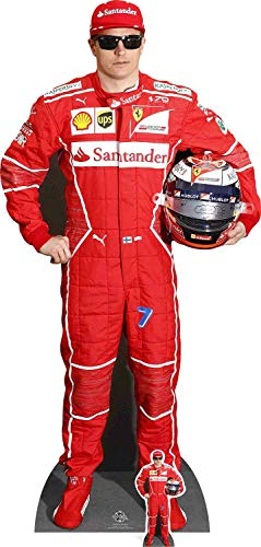 Star Cutouts Ltd Kimi Räikkönen, Pappe, Mehrfarbig, 174 x 85 x 174 cm