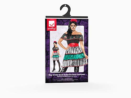 Smiffys Costume Señorita Giorno dei morti, Multicolore, 48077M