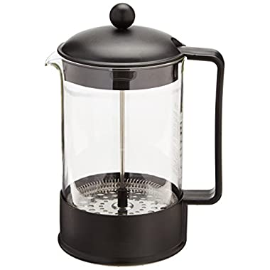 BODUM 1552-01US BRAZIL Coffee Maker, French Press Coffee Maker, Black, 51 Ounce (12 Cup)