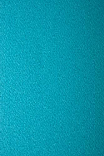 10 Blatt Türkis 220g Tonkarton einseitig strukturiert DIN A4 210x297 mm Prisma Turchese Prägekarton farbig Karton fabig einseitig strukturiert Bastel-Karton mit Prägung bunt Karton mit Textur A4