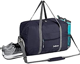 Sports Gym Bag with Wet Pocket & Shoes Compartment, Travel Duffel Bag for Men and Women Lightweight, Navy