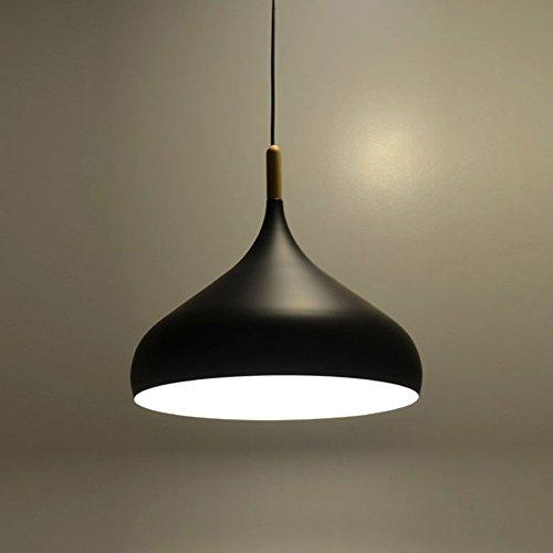 Moderna Lampada a Sospensione da Soffitto Modello Moderna Industriale Plafoniera in Metallo Lampadari a Sospensione Colore Nero
