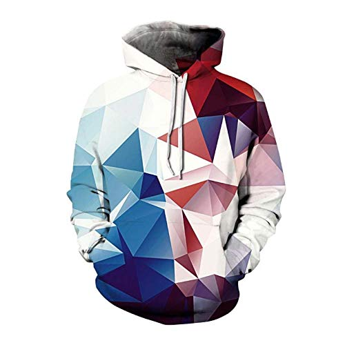 Fashion 3D Printed Hoodies Geometric Pattern Men Women Casual Hooded Sweatshirt Color Blocking Style Pullover Hoodie Unisex 02M