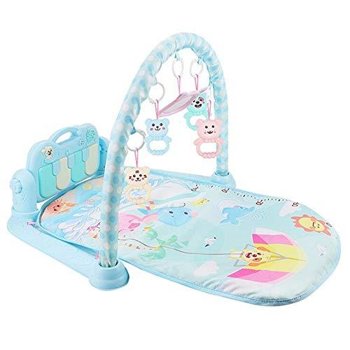Nuoyi Babyspielmatte und Klavier Activity Music Pad - Fußklavier Babyspielzeug stimulieren die Entwicklung des Babys Mobile Power Early Learning Fitness,Blue