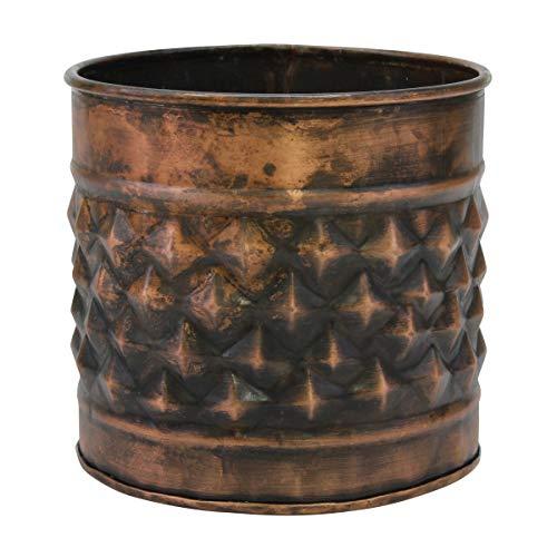 Stonebriar Mehrzweck-Behälter, Kupfer, dekorativ, strukturiertes Metall, groß