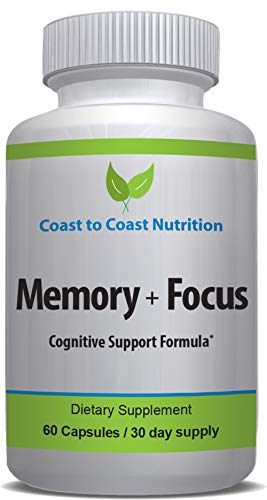 Improve Memory and Alertness | All-natural Brain Boosting Supplement For Cognitive Health | Better Concentration, Remember Details Easily, Solve Problems Faster, Overcome Senior Moments | 60 capsules