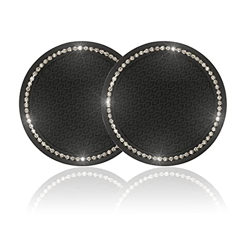 JUSTTOP Car Cup Holder Coaster, 2 Pack Universal Auto Anti Slip Cup Holder Insert Coaster, Bling...