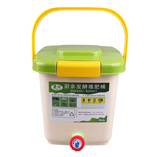 Check Out This Yardwe 12L Compost Bucket Plastic Fertilizer Storage Bucket Trash Box with Cover Garb...