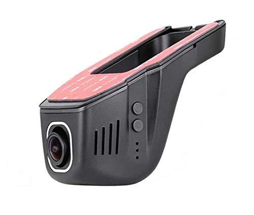 Dash CAM WiFi del Coche DVR HD 1080P, Emergencia, aplicación de Control del Tablero de Instrumentos, cámara del Coche 170 ° Gran Angular con la visión Nocturna, G-Sensor, Coche DVR,duallens