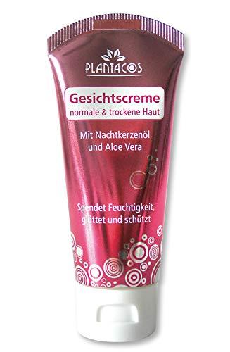 PLANTACOS Gesichtscreme für normale bis trockene Haut mit Nachtkerzenöl und Aloe Vera - 40 ml