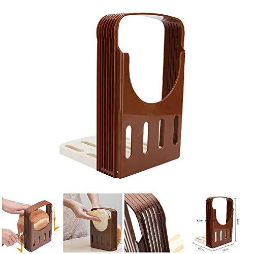 Toastbrot Slicer, Wohnküche Kunststoff Faltbare Loaf Fräsvorsatz Slicing Werkzeug Küchenzubehör