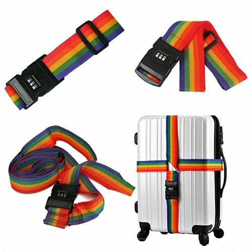 4 Pack Luggage Straps, Adjustable Suitcase Belts,and Heavy Duty Non-Slip...