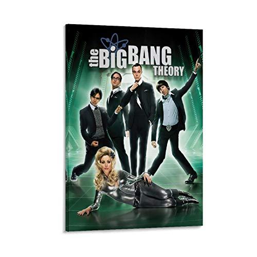 RTYW The Big Bang Theory Filmposter, Leinwand-Kunst-Poster und Wandkunstdruck, modernes Familienschlafzimmer, 30 x 45 cm
