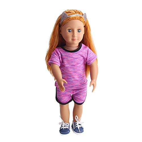 Vovotrade® Casual Sportswear Notre Poupée American Girl Génération Fit For 18 Inch Our Generation American Girl Doll (Hot Pink)