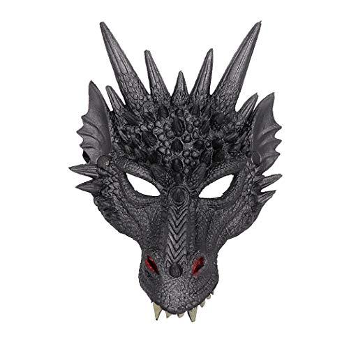 Kapmore Halloween Maske 3D Drache Cosplay Maske Party Kostüm Maske für Karneval