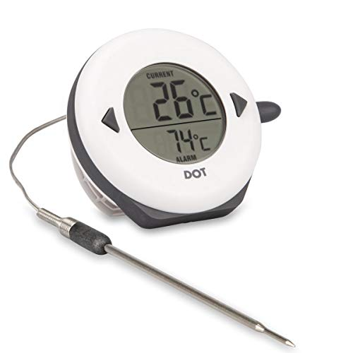 DOT - Digital Oven Thermometer with Alarm & Braided L