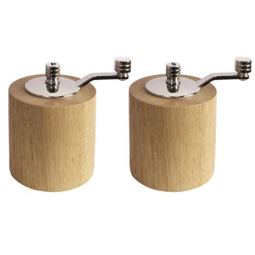 Imagen del producto Olympia ce246sal y pimienta Grinder Set, bambú (Pack de 2)