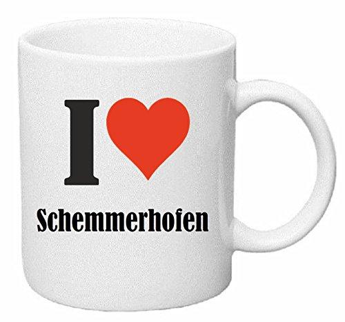 Reifen-Markt Kaffeetasse I Love Schemmerhofen Keramik Höhe 9,5cm ⌀ 8cm in Weiß