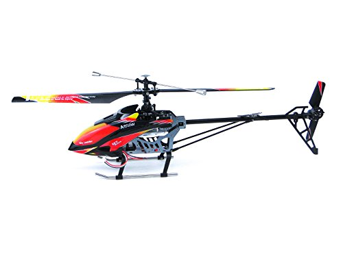 efaso Helikopter WLToys V913 - 2,4 GHz, 4-Kanal Single Blade Hubschrauber mit LCD Display an der Fernsteuerung, Alu-Chassis und hoher Windresistenz