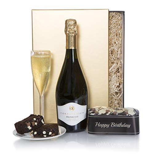 Happy Birthday Hamper - Sparkling Prosecco Birthday Gift Hampers - Birthday Hampers Gift Box Range - Gift Baskets For Her