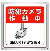 2枚入 防犯カメラ作動中 横15.4cm×高さ16.7cm アマゾンより発送 防水野外用 警告サインボード