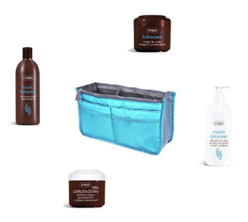 ZIAJA + Set de sac de rangement crème peeling tonic savon organisateur cosmétique bijoux voiture (corps de beurre de cacaa).