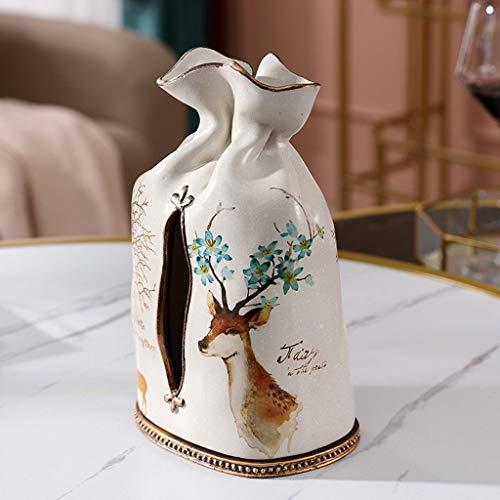 LXJ Creativa multifunción floreros Cajas de pañuelos Que Viven en casa habitación de Mesa de café Mesa de Comedor Bombeo de arreglos Florales Almacenamiento de Tejidos Secos, Alta Botella de 24,5 cm