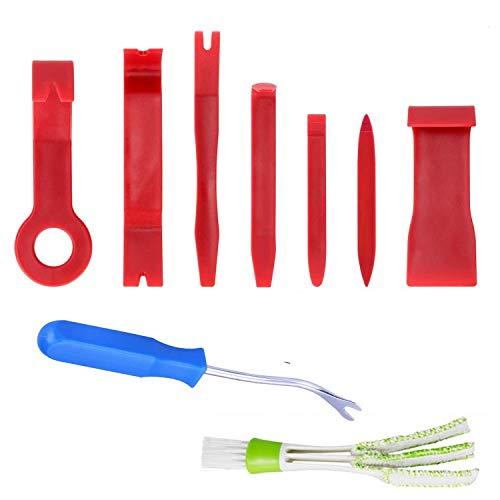 QOOTEC Kit Utensile di Smontaggio Strumento di Rimozione in Plastica Strumento per Auto Porta Pannello Autoradio Audio Fastener Remover