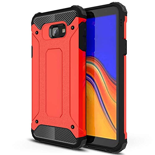 Lapinette Cover Compatibile con Samsung Galaxy J4 Plus Antiurto - Custodia Galaxy J4 Plus Protezione Antiurto - Protezione Samsung Galaxy J4 Plus Cover Antiurto Robusta Modello Armor Rosso