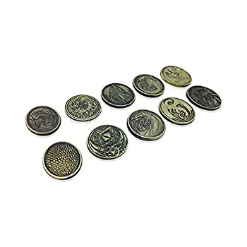 Norse Foundry Dragon Variety Pack  Set of 10   Metal Plated Novelty  Adventure Coins for RPGs / LARP   DND Pathfinder Live Action Role-Playing Games