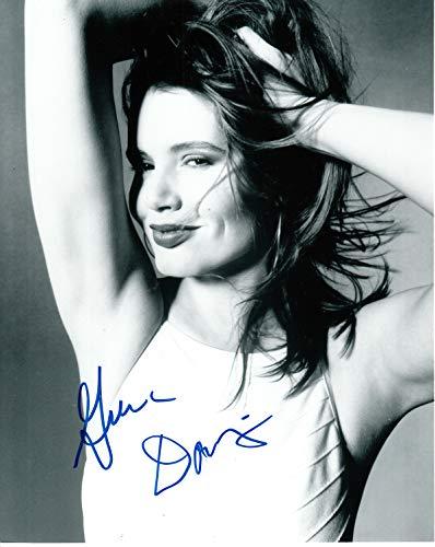 Firmar Dreams Autógrafos Geena Davis, Foto firmada en Color de 10 x 8 – Long Kiss Goodnight – Thelma y Louise – Distribuidor 100% en Persona – Registrado #242