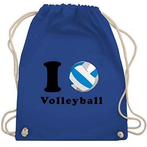 Shirtracer Volleyball - I Love Volleyball - Unisize - Royalblau - volleyball - WM110 - Turnbeutel und Stoffbeutel aus Baumwolle