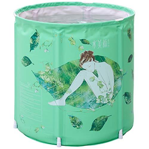 Baignoire Gonflable Adulte Pliable Ronde avec siège Central de Coussin Mou, Baignoire Pliable portative en Plastique, Baignoire Debout Libre Gonflable 65 * 70cm