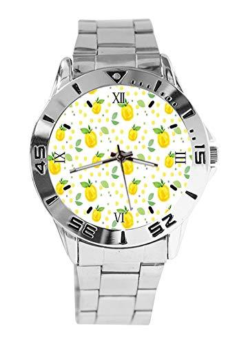 Give You Lemons - Reloj de Pulsera analógico de Acero Inoxidable para Mujer, Resistente al Agua, Esfera de Moda, Estilo Casual