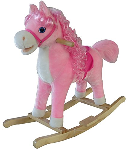 A to Z 31873 Rocking Horse Toy with Sound/Moving Mouth and Tail