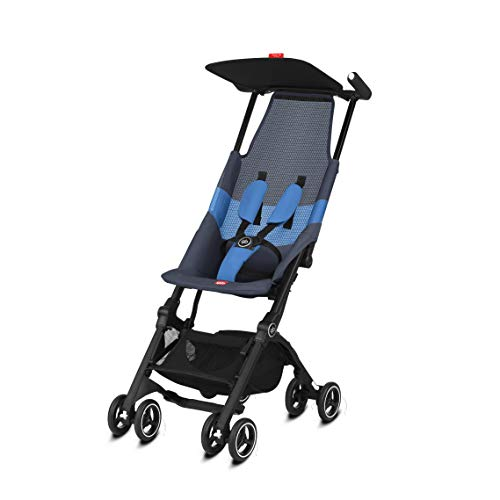 gb Pockit Air All Terrain Ultra Compact Lightweight Travel Stroller with Breathable Fabric in Night Blue