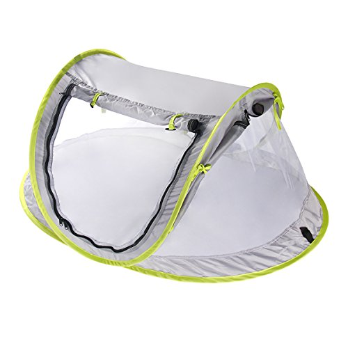 Yodensity Baby Faltbare Pop-up Moskitonetz Atmungsaktiv mit Halterung und Unten Freie Installation Outdoor Grasland Strand UV-Schutz Zelt für 0-2 Jahren