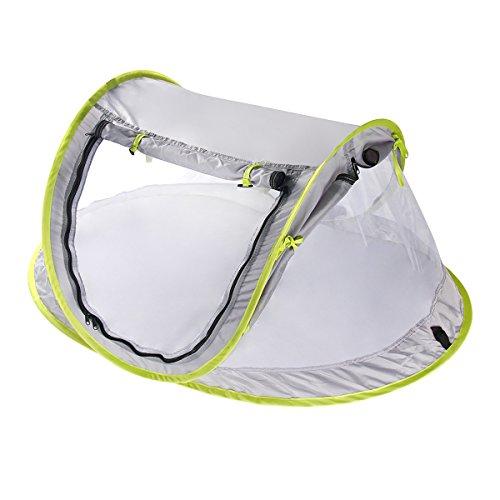 Yodensity Bébé Tente De Plage Pliante Portable Moustiquaire Anti-UV Lit De Voyage Piscine Pour...