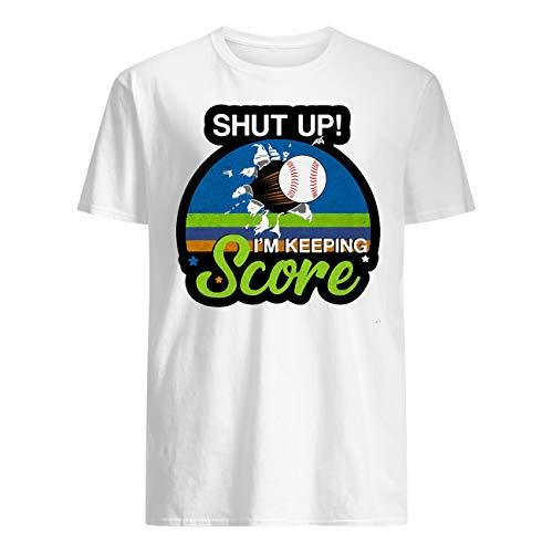 Leet Group Shut up I'm Keeping Score Baseball Vintage Retro T-Shirt